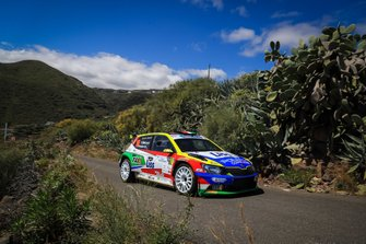 Tibor Erdi, Szabolcs Kovacs, Skoda Fabia R5, FIA ERC, Rally Islas Canarias