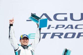 Yaqi Zhang, Team China, 1st position, celebrates on the podium