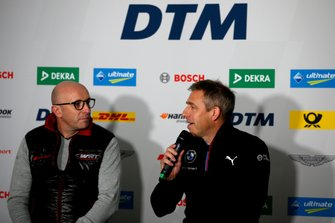 Persconferentie, Vincent Vosse, teambaas Audi Sport Team WRT, Bart Mampaey, teambaas, BMW Team RBM