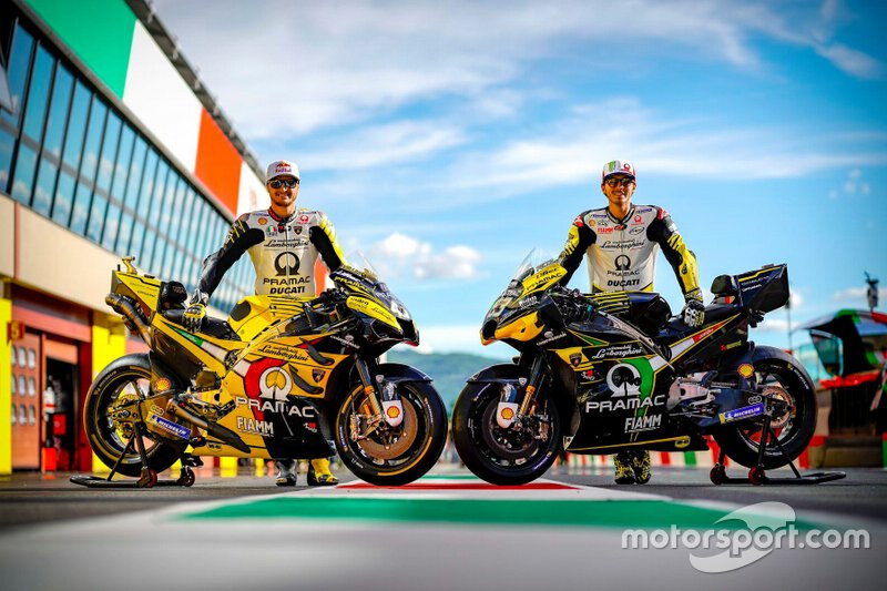 Jack Miller and Francesco Bagnaia, Pramac Racing Lamborghini livery