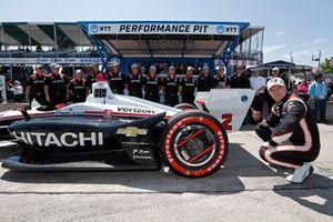 Ganador de la pole Josef Newgarden, Team Penske Chevrolet
