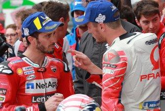 Андреа Довициозо, Ducati Team, и Джек Миллер, Alma Pramac Racing
