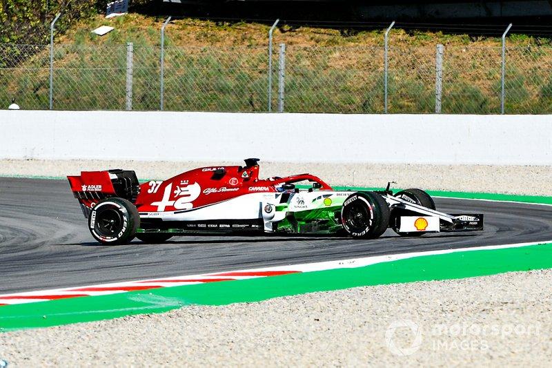 Callum Ilott, Alfa Romeo C38, spins