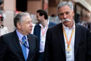 Jean Todt, President, FIA, en Chase Carey, voorzitter Formula 1