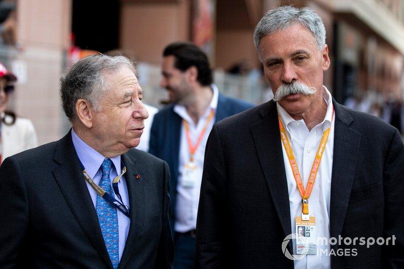 Jean Todt, Presidente FIA, e Chase Carey, Presidente, Formula 1