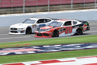 Christopher Bell, Joe Gibbs Racing, Toyota Supra Rheem, Cole Custer, Stewart-Haas Racing, Ford Mustang Thompson Pipe Group