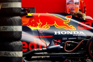Car of Max Verstappen, Red Bull Racing RB16 on the grid