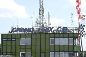 El edificio del circuito de Brno