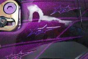 Detalles del casco de Lewis Hamilton, Mercedes AMG F1