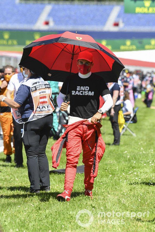 Charles Leclerc, Ferrari on the grid