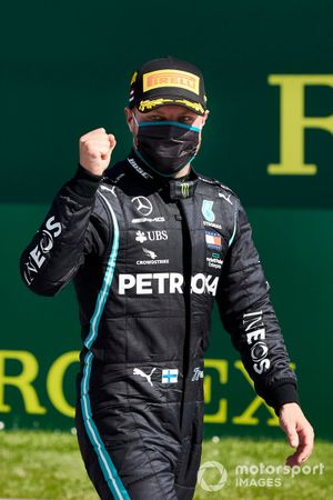 Valtteri Bottas, Mercedes AMG F1, celebrates after winning the race