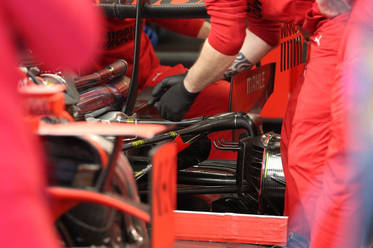 Ferrari SF1000, dettaglio della sospensione posteriore