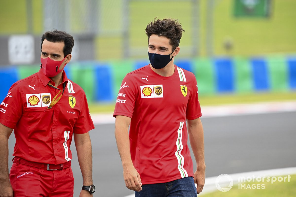 Charles Leclerc, Ferrari cammina sul tracciato
