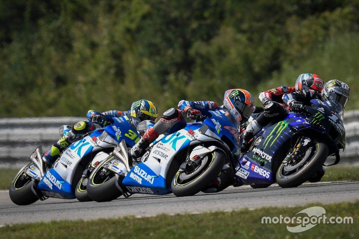Maverick Viñales, Yamaha Factory Racing, Alex Rins, Team Suzuki MotoGP, Joan Mir, Team Suzuki MotoGP