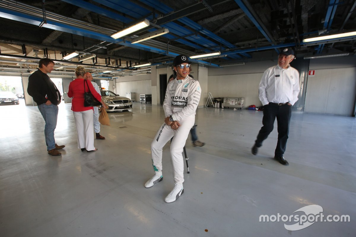 Lewis Hamilton e Sir Stirling Moss a Monza