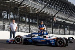 Takuma Sato, Rahal Letterman Lanigan Racing Honda, mit Bobby Rahal