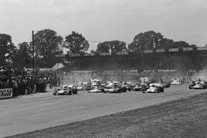 Clay Regazzoni, Ferrari 312B2, Jackie Stewart, Tyrrell 003, Jo Siffert, BRM P160, GP di Gran Bretagna del 1971