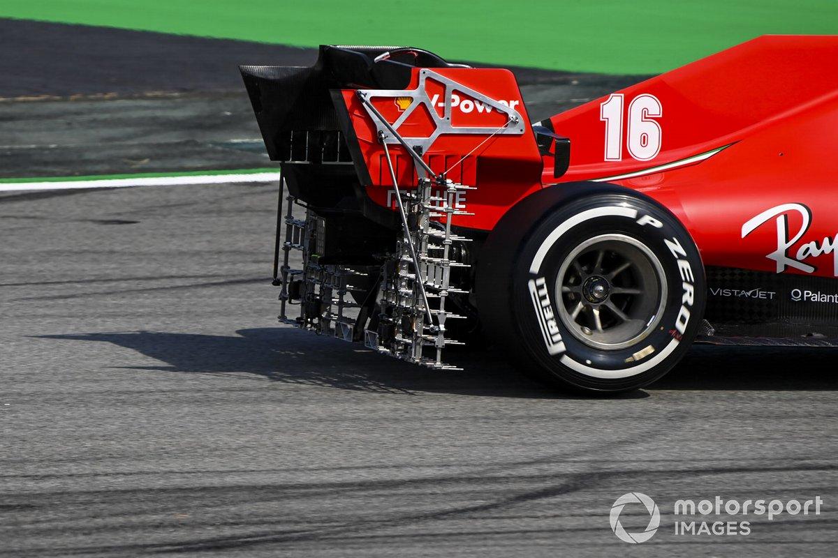 Charles Leclerc, Ferrari SF1000 con la griglia per i test aerodinamici