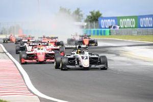 Theo Pourchaire, ART Grand Prix leads Oscar Piastri, Prema Racing