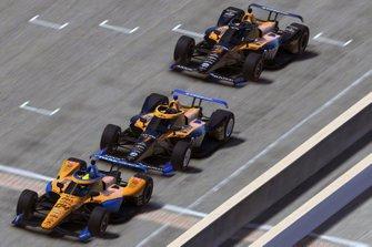 Lando Norris, Arrow McLaren SP, Oliver Askew, Arrow McLaren SP, Patricio O'Ward, Arrow McLaren SP,