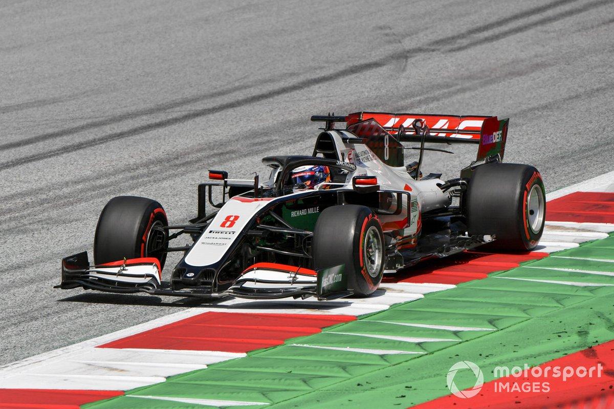 Ромен Грожан за рулем Haas VF-20
