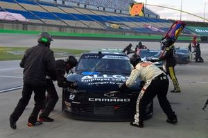 Josh Williams, DGM Racing, Chevrolet Camaro Alloy Employer Services pit stop