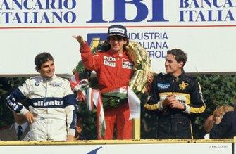 Alain Prost, McLaren, Nelson Piquet, Brabham, Ayrton Senna, Lotus, GP d'Italia del 1985