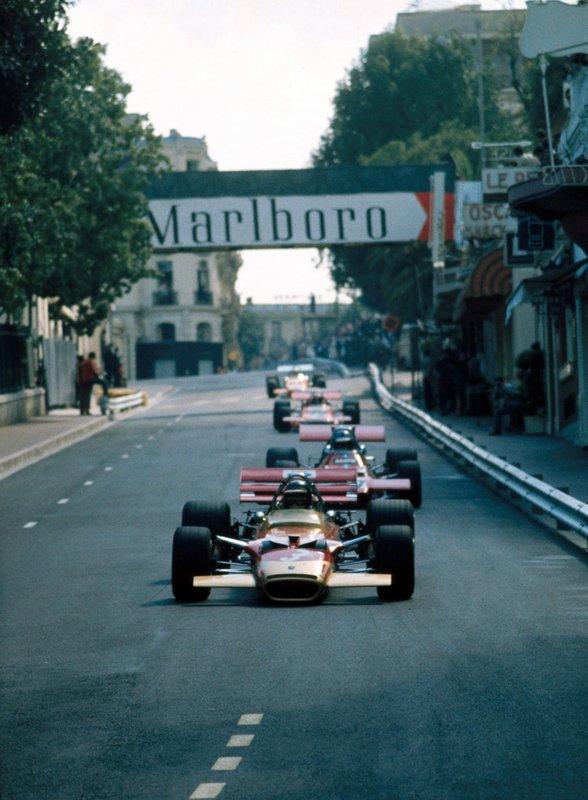 Jochen Rindt, Lotus Cosworth 49C, Piers Courage, Williams De Tomaso 505, Jo Siffert, March Cosworth 701, Bruce McLaren, McLaren Cosworth M14A