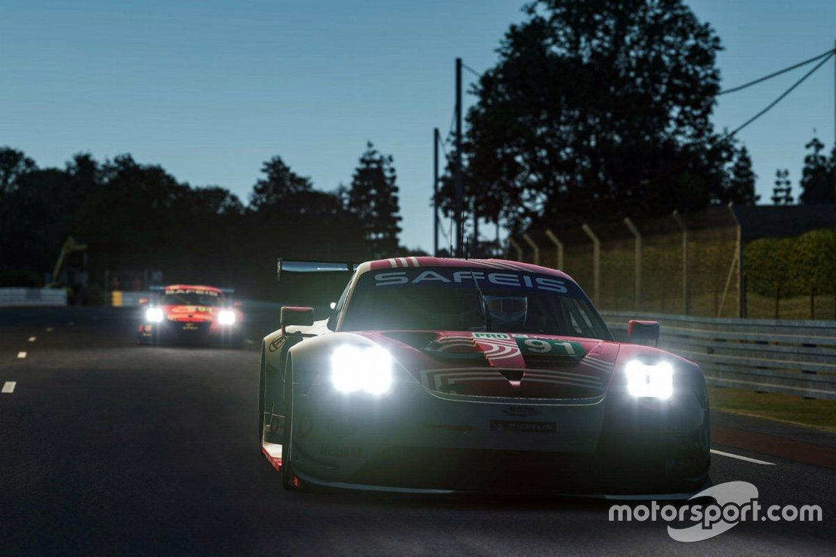 #91 Porsche Esports Team Porsche 911 RSR: André Lotterer, Neel Jani, Mitchell Dejong, Martti Pietila