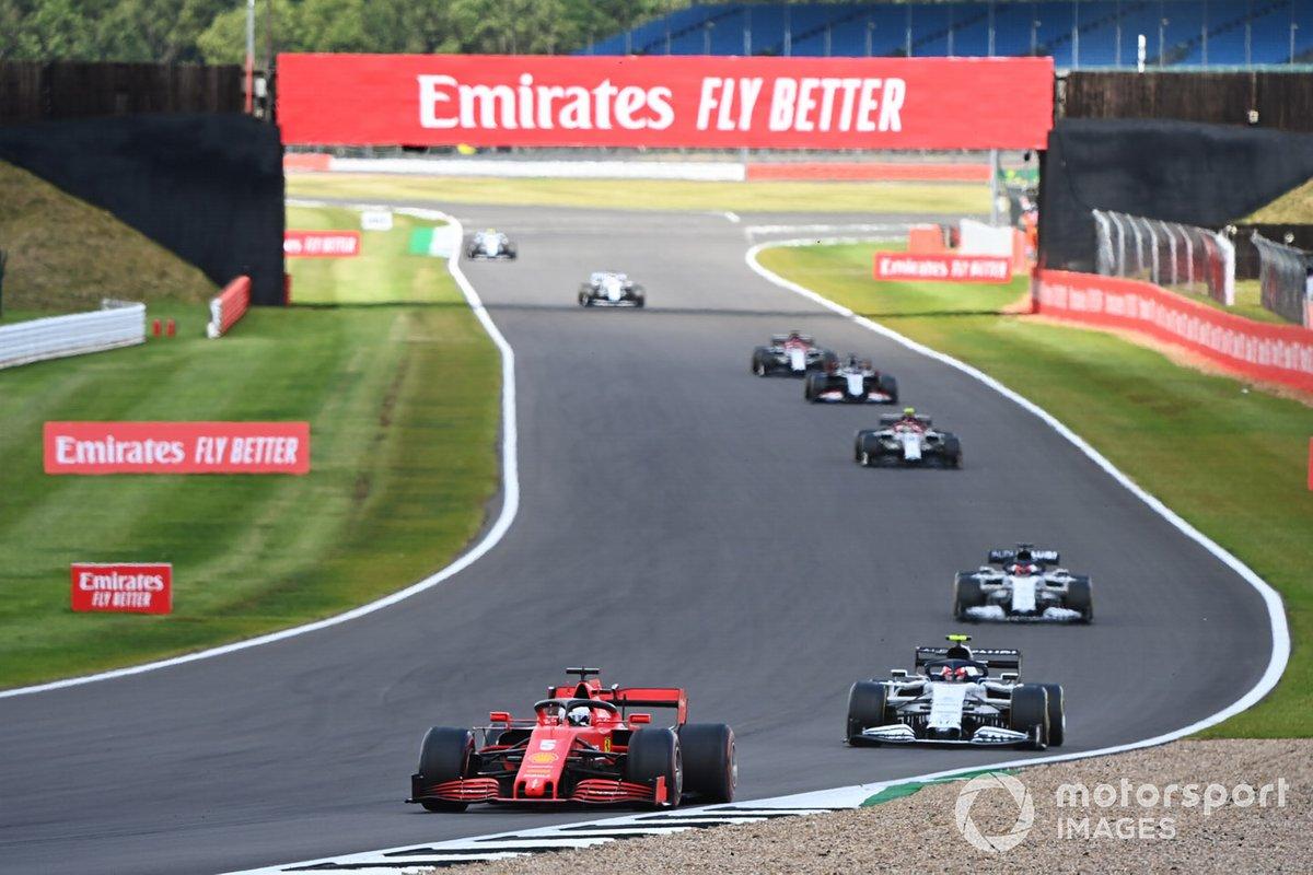 Sebastian Vettel, Ferrari SF1000, Pierre Gasly, AlphaTauri AT01, Daniil Kvyat, AlphaTauri AT01