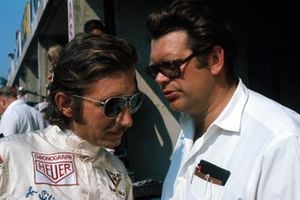 Jo Siffert, BRM P160, BRM team manager Tim Parnell