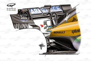McLaren MCL35, dettaglio della t-wing