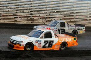 Tyler Ankrum, GMS Racing, Chevrolet Silverado LiUNA!, Johnny Sauter, ThorSport Racing, Toyota Tundra AHI Facility Services, Inc.