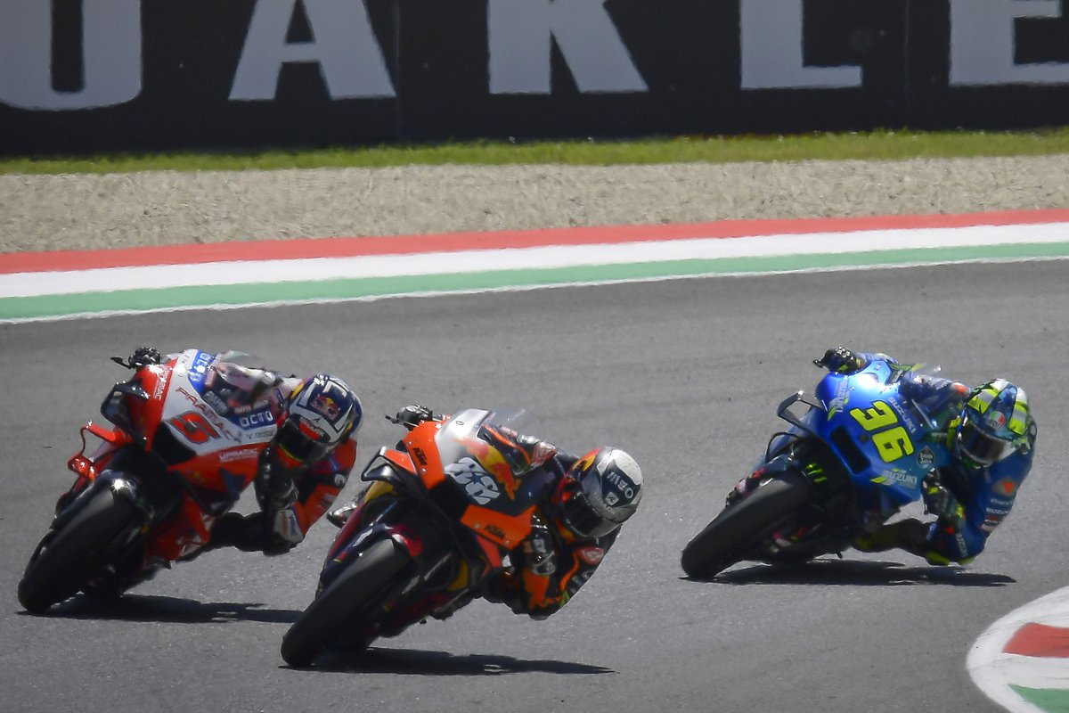 Miguel Oliveira, Red Bull KTM Factory Racing, Johann Zarco, Pramac Racing, Joan Mir, Team Suzuki MotoGP