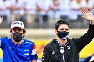 فرناندو ألونسو، ألبين وإستيبان أوكون، ألبين
