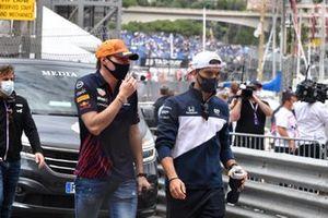 Max Verstappen, Red Bull Racing, en Pierre Gasly, AlphaTauri