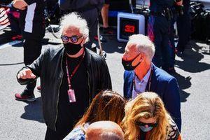 Flavio Briatore and Greg Maffei, CEO, Liberty Media Corporation, on the grid