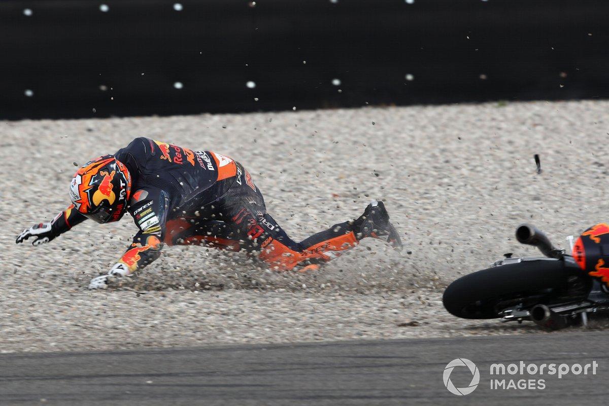 Caída de Jaume Masia, Red Bull KTM Ajo