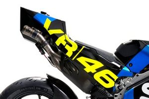 Bike detail with VR46 logo