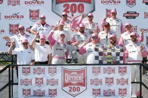 Austin Cindric, Team Penske, Ford Mustang Car Shop celebrates in victory lane