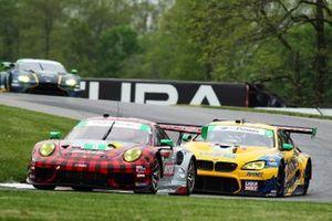 #9 Pfaff Motorsports Porsche 911 GT3R, GTD: Zacharie Robichon, Laurens Vanthoor, #96 Turner Motorsport BMW M6 GT3, GTD: Robby Foley, Bill Auberlen