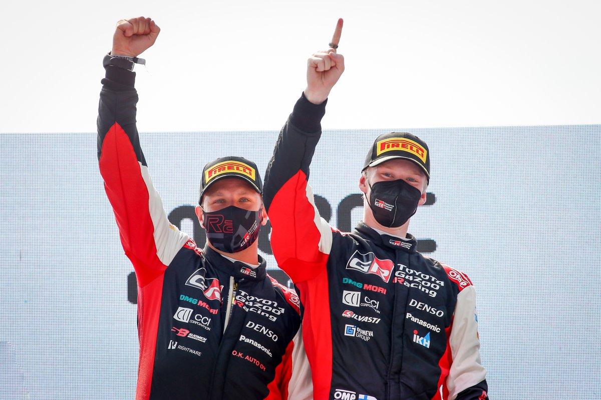 Ganador Kalle Rovanperä, Jonne Halttunen, Toyota Gazoo Racing WRT Toyota Yaris WRC