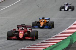 Charles Leclerc, Ferrari SF21,Daniel Ricciardo, McLaren MCL35M,Nicolas Lafiti, Williams FW43B
