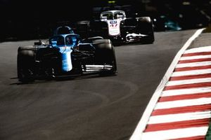 Fernando Alonso, Alpine A521, Mick Schumacher, Haas VF-21