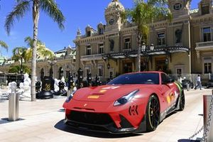 A Ferrari sportscar outside the Casino de Monte Carlo
