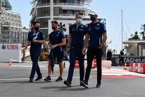 Nicholas Latifi, Williams, walks the track with his team