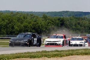 Ty Gibbs, Joe Gibbs Racing, Toyota Supra Joe Gibbs Racing and A.J. Allmendinger, Kaulig Racing, Chevrolet Camaro RAMCO Specialties Inc