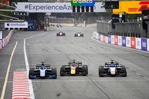 Guanyu Zhou, Uni-Virtuosi Racing, Liam Lawson, Hitech Grand Prix ANDDavid Beckmann, Charouz Racing System BATTLE