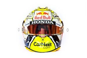 Le casque de Max Verstappen, Red Bull Racing