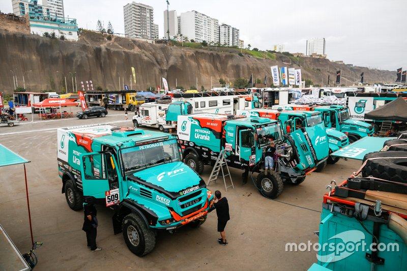 Расположение команды Iveco De Rooy